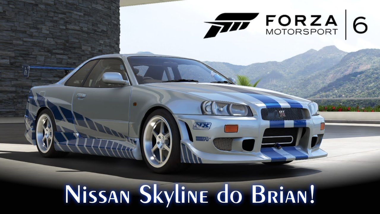 Nissan Skyline Gt R R34 Do Brian Velozes Furiosos Forza
