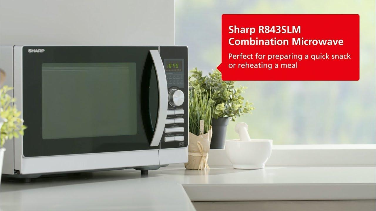 sharp r843slm 25 litre combination microwave silver
