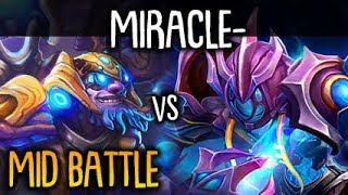 Miracle- trying Arc Warden vs Fast Hands Tinker Boss Mid Battle Dota 2