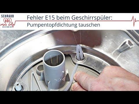 Bosch / Siemens Geschirrspüler Fehler E15 - Pumpentopfdichtung Tauschen