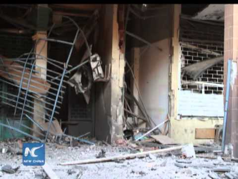 Bomb damages Italy