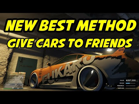GTA 5 NEW BEST! WAY TO HIT GIVE CARS TO FRIENDS GLITCH/GTA 5 GIVE CARS TO FRIENDS EASY NEW! METHOD