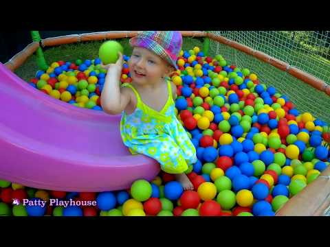 KIDS Swimming POOL  | BEACH vacation Outdoor Playground FUN !!!