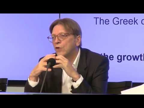 """Press conference Guy Verhofstadt  """"The truth about Greece"""" - 25 May 2016"""