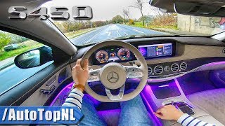 MERCEDES BENZ S CLASS 2019 AMG Line S450 LANG 4Matic POV Test Drive AMBIENT LIGHTING by AutoTopNL