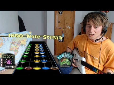 All Guitar Hero 3 Riffs On A Real Guitar 120% Speed 100% FC!!!