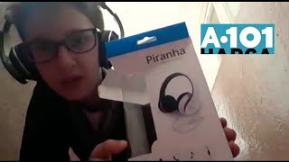 a101 den aldığım  Piranha kulaklık kutu açılımı inceleme.