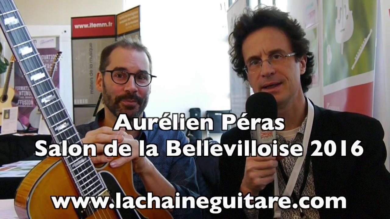 Luthier Aurélien Péras - Salon de le Bellevilloise 2016
