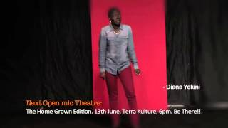 Diana Yekini Extremely Funny performance at Open Mic Theatre