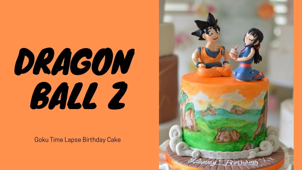 Dragon Ball Z Goku Birthday Cake