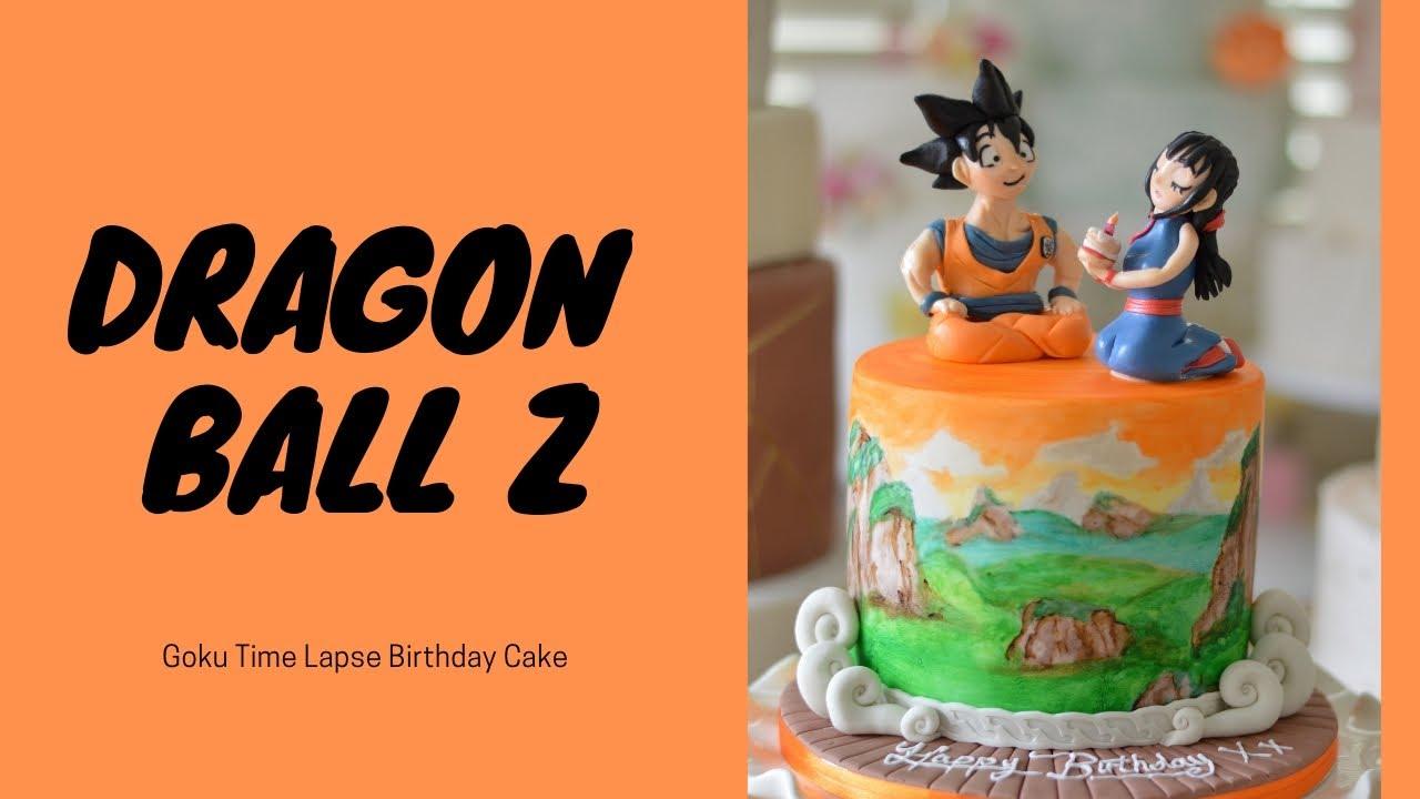 Dragon Ball Z Goku Birthday Cake Youtube