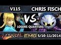 GOML   V115   Zero Suit Samus  Vs  Chris Fich  Metaknight  SSBB Losers Quarters   Brawl