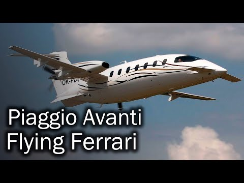Piaggio Avanti - stylish Italian business turboprop aircraft