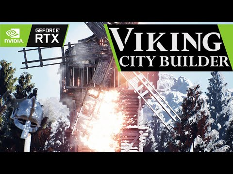 Viking City Builder- first RTS with Ray Tracing
