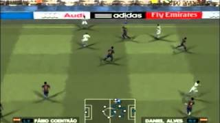 PES 2013 PS2 - Gameplay real madrid x barcelona