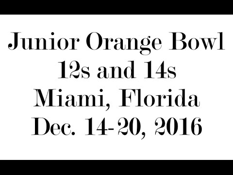 Junior Orange Bowl 2016
