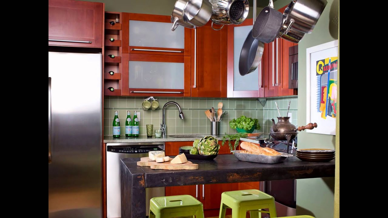 kitchen design ideas for small spaces 2014 - YouTube