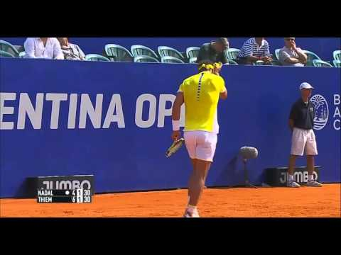 Rafael Nadal vs  Dominic Thiem. SF set-2 Argentina Open 2016