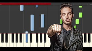 J Balvin Veneno piano midi tutorial sheet partitura cover app how to play karaoke