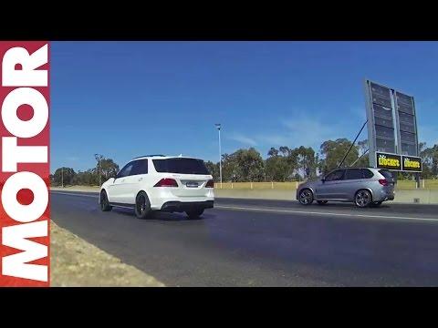 BMW X5 M vs Mercedes-AMG GLE 63 S drag race