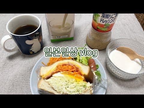 샌드위치도 만들고 평범하게 지냈던 일본 일상 브이로그 | 일본일상vlog