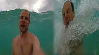Il n'a pas vu la vague arriver et ça tourne mal... (⚆_⚆)