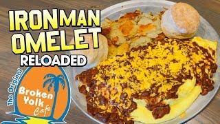 Iron Man Breakfast Omelet Challenge at Broken Yolk Cafe!!