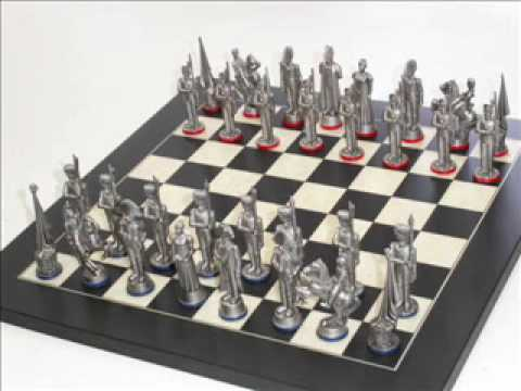 Making Antique Finish Pewter Chess Sets
