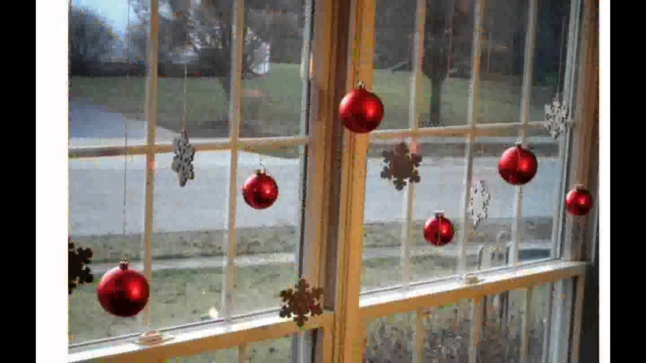 Window Christmas Decorations - YouTube
