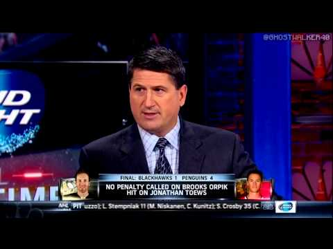 """Mike """"The Whiner"""" Milbury on Brooks Orpiks' Hit"""