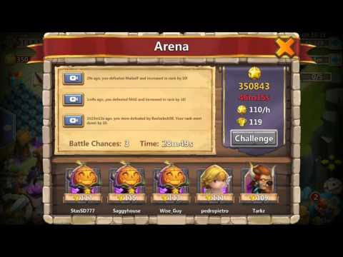 Castle Clash Arena Clips Plus Guild Recruiting IOS