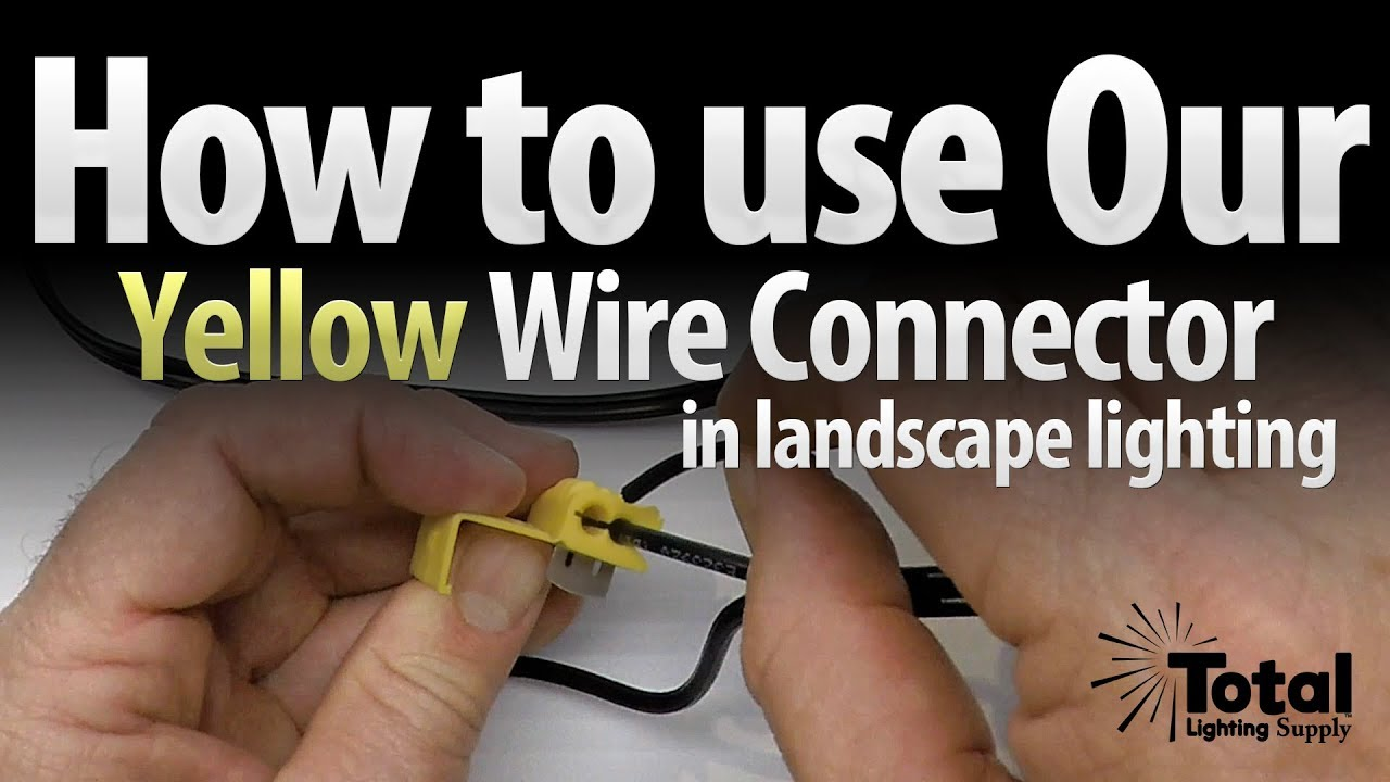 How to use Our low voltage Yellow Wire Connector in Outdoor ...