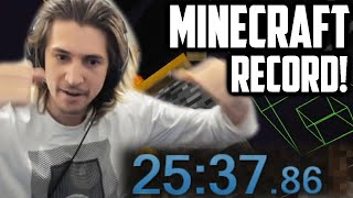 NEW INSANE MINECRAFT SPEEDRUN  RECORD! - xQc 1.16 Personal Best!
