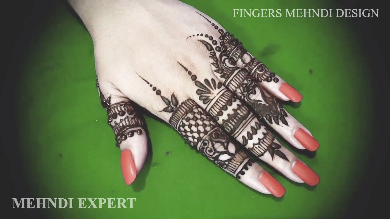 simple and beautiful mehndi or henna designs for fingers
