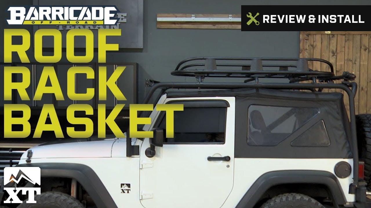 Jeep Wrangler Barricade Roof Rack Basket - Textured Black ...