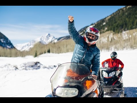 Snowmobiling at the Maroon Bells | OutThere Colorado