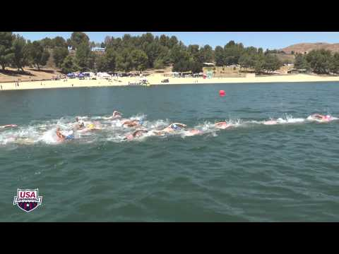 Men's 10k Open Water Nationals Full Race Video - USA Swimming - Castaic Lake CA June 3th, 2014