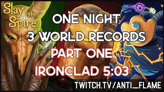 Slay the Spire Speedrun | Ironclad Any% Unseeded 5:03 [World Record]