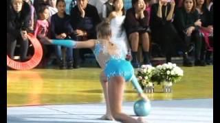 Спорт. Художественная гимнастика. Чемпионат Бишкека-2015. Агата Быковская.