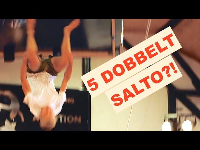 HAN LAVEDE 5 DOBBELT SALTO!? *challenge* - Flying Superkids
