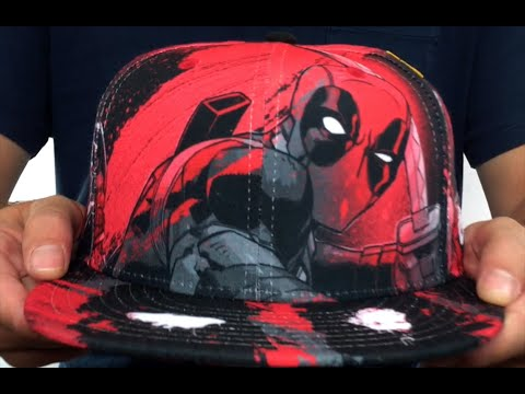 Deadpool  HI-RES ALL-OVER  Fitted Hat by New Era - YouTube 980c2770f760