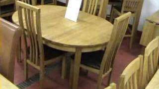 Top Furniture Oak Dining Furniture Showroom