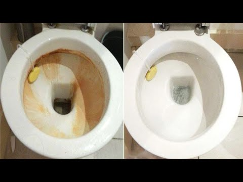 How To Remove Hard Water Stains From Toilet Bowl! Toilet lazy flush and mineral buildup repair