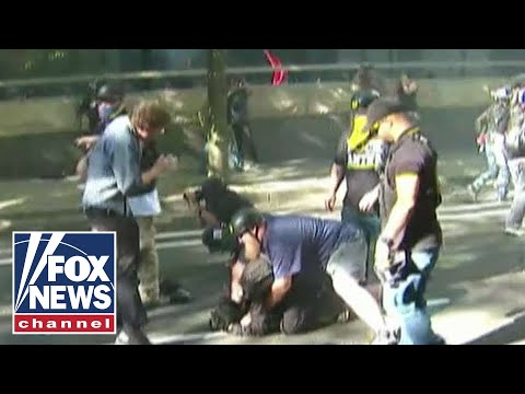 Antifa clashes with Patriot Prayer group in Portland, Oregon