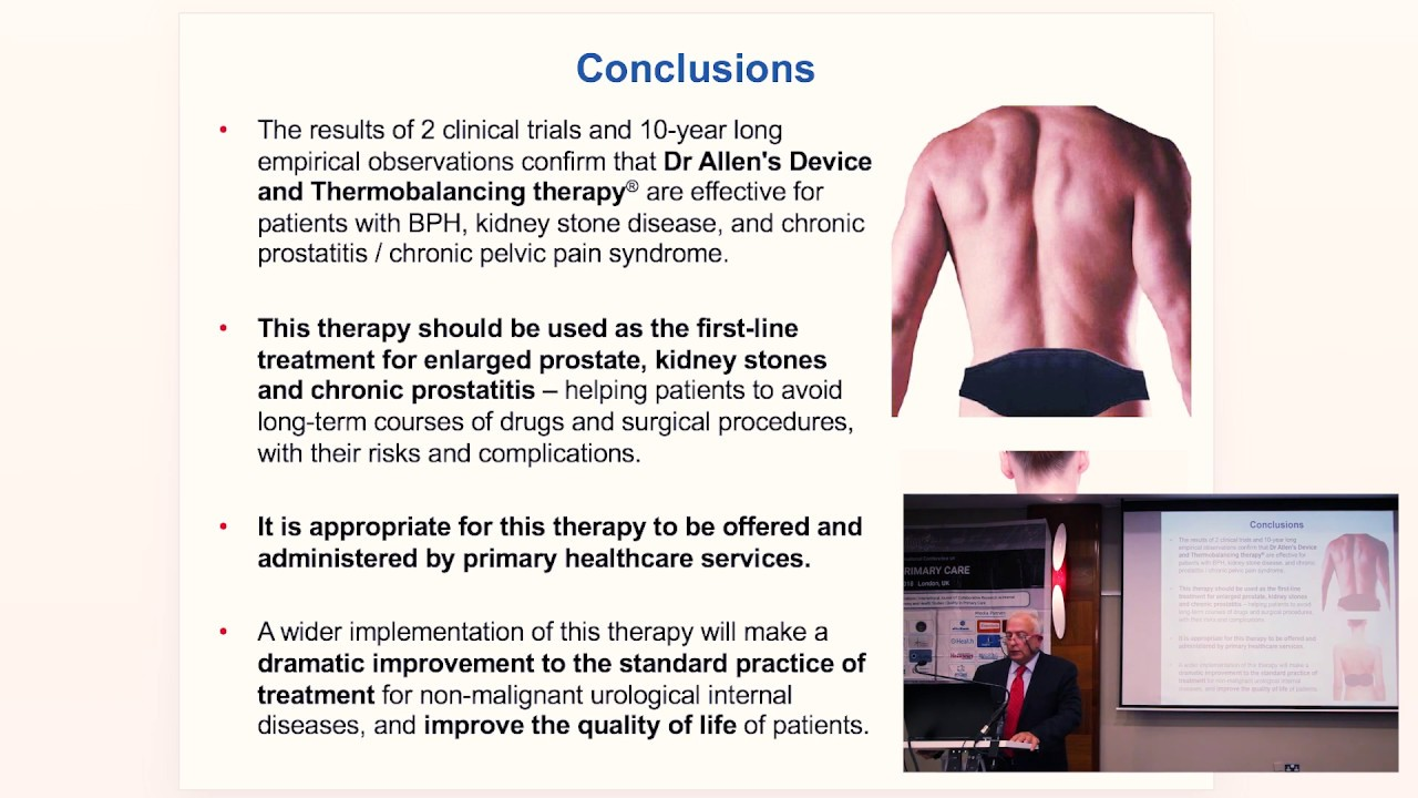Prostate enlargement and chronic prostatitis Thermobalancing therapy