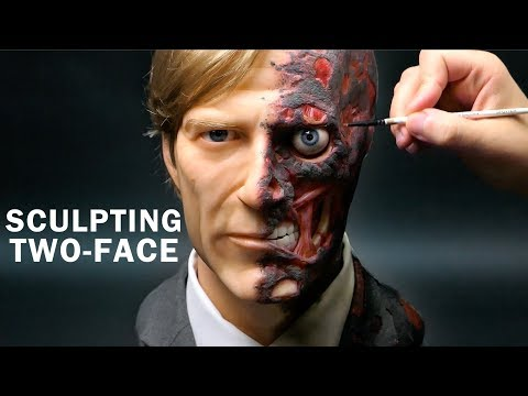 Two-Face Sculpture Timelapse - The Dark Knight