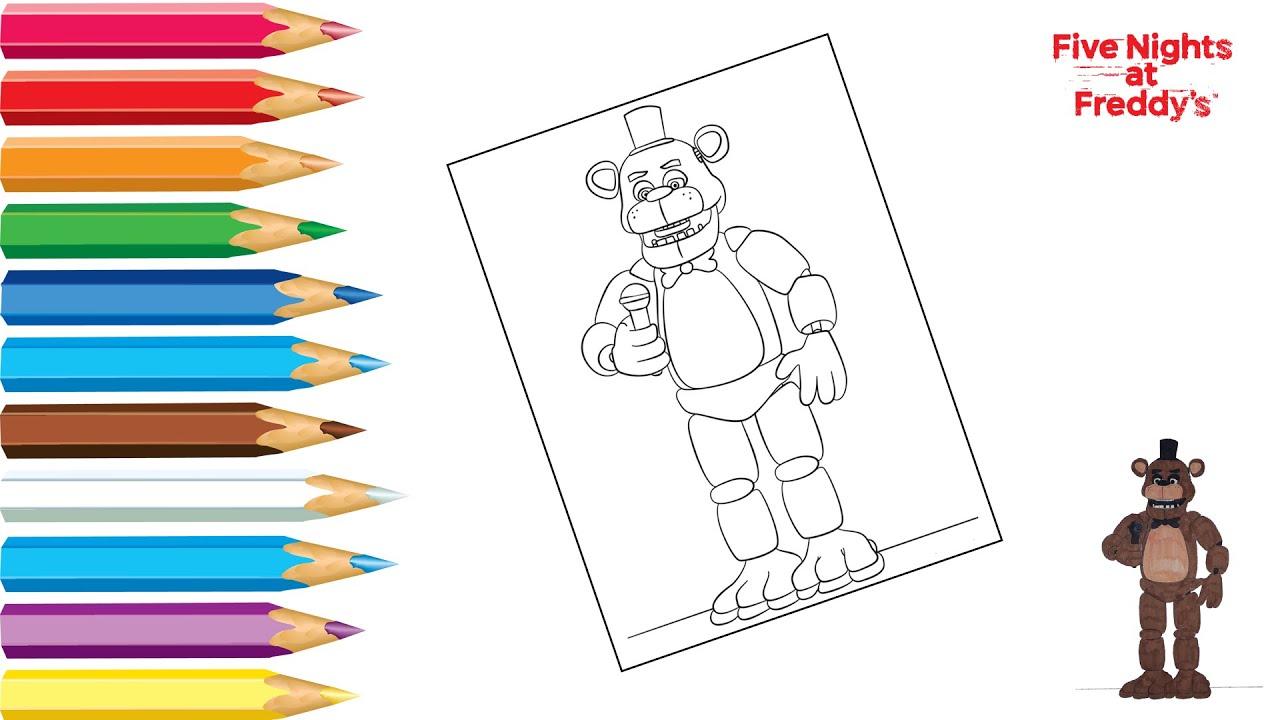 Раскраска Фредди ФНАФ / Coloring Freddy FNAF / Как ...