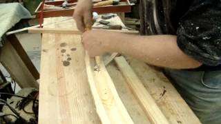 Hand Carving Out A Box Elder Log For A Golf Ball Display