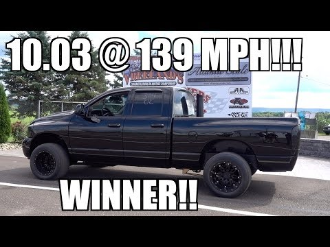 TRIPLE TURBO CUMMINS GOES 10.03 @ 139 MPH FOR THE WIN!!!