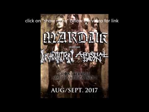 Marduk, Incantation and Abysmal Dawn North American tour summer 2017!
